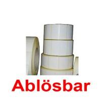 Ablösbare Thermoetiketten  56x25 mm  1000 Stück je Rolle Thermo-Etiketten - 56 x 25