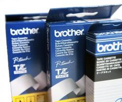 Beschriftungsband für Brother P-Touch 80, Schwarz auf Weiss, 12 mm, Schriftband-Kassette für PTouch 80, 12mm breit, 4mtr.