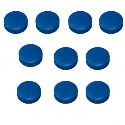 10x Magnete, Blau Ø 24mm, Haftmagnete für Whiteboard, Kühlschrankmagnet, Magnettafel, Magnetwand, Magnet Rund
