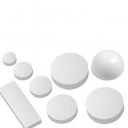 10x Magnet in WEISS - 8 Größen zur Auswahl, weiße Magnete für Magnettafel, Haftmagnete, Kühlschrankmagnet, Magnetwand,  Whiteboard Magnet 15mm