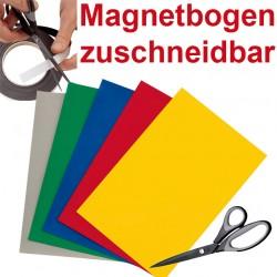 Magnetbogen, 1x A4, farbiger blanko magnet haftender Bogen, zuschneidbar, beschriftbar (in 5 Farben: Rot, Blau, Gelb, Grün oder Grau) Gel b