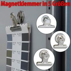 Magnet Briefklemmer in 5 Größen, Magnetklammer, Faxland Magnet-Klemme Breit 30mm Breit 30mm