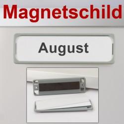 Magnetschild, 8 x 2.5 cm für Magnetboards, Infotafeln Grau