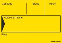 40x Umzugetiketten Nr.4, 105x74, Beschriftung mit Etiketten vom Umzugskarton für den Umzug, Umzugsetiketten yellow