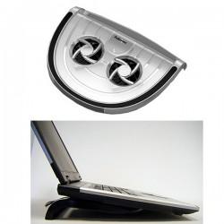 Clear Laptop Cooler mit 2x Ventilatoren per USB, Notebook Ständer Kühler, Smart Suite Fellowes Notebookständer, 80164