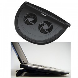 Black PDU 4 Laptop Cooler mit 2x Ventilatoren per USB, Notebook Kühler, Smart Suite Fellowes Notebookständer, 80165
