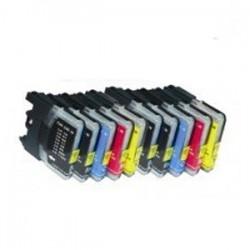 Sparset für Brother LC 985 (10 Patronen, 4x16ml, 6x11ml) kompatible Druckerpatronen für LC985