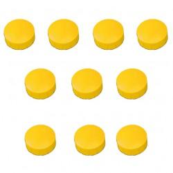 10x Magnete, Gelb Ø 24mm, Haftmagnete für Whiteboard, Kühlschrankmagnet, Magnettafel, Magnetwand, Magnet Rund