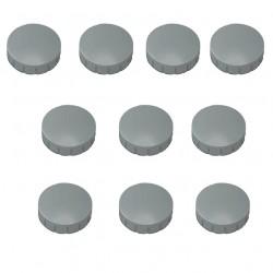 10x Magnete Grau Ø 15 mm Haftmagnete Magnete für Magnettafel, Boards, Magnet Rund Grau
