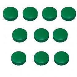 10x Magnete, Grün Ø 24mm, Haftmagnete für Whiteboard, Kühlschrankmagnet, Magnettafel, Magnetwand, Magnet Rund