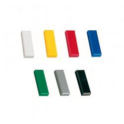 10x Magnete 54x19 mm in 7 Farben zur Auswahl, Haftmagnete, Kühlschrankmagnet, Magnet für Magnettafel, Magnetwand,  Whiteboard Magnet Weiss