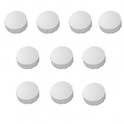 30x Magnete 7 Farben zur Auswahl, Ø 15, 20, 24 mm, Haftmagnete für Whiteboard, Kühlschrank, Magnettafel, Magnetset weiss Weiss
