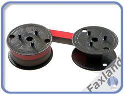 Farbband - schwarz-rot- für  Sharp CS 2635 RH, kompatibel Marke Faxland