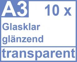 Klebefolie 10 x din a3 transparent gl nzend for Klebefolie drucken