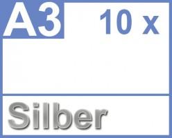 Klebefolie 10 x din a3 silber druckerfolie for Klebefolie farbig