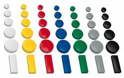 Magnet Sortiment, farbig sortiert, bis 4 verschiedene Größen  Haftmagnete für Whiteboard, Kühlschrank, Magnettafel, Magnetset