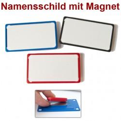 Namensschild magnetisch, 8x4,5 cm, in 3 Farben R ot