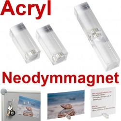 4x 30 x 30 x 10 Acrylmagnet 30x10x10 mm, Acryl Neodym Magnete für Magnettafel, Magnet Boards 30 x 30 x 10