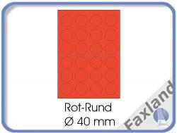 Etiketten rot  ø 40 mm  2400 Stück (100 A4 Blätter) - ø40