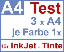 Test Pack Selbstklebende Klebe-Folien A4, 3x Muster für Inkjetdrucker, Testpack, Testset