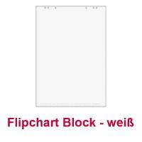 1x Flipchartblock, Weiss Blanco, Block mit 20 Blatt 69x99 cm, 6 fach Lochung, perforiert, für Flipchart