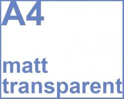 Faxland De Selbstklebende Folie Transparent Matt 100 Druckerfolie