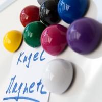 Kugelmagnet Ø 30 mm, Magnete für Magnettafel, Magnet Boards in 9 Farben zur Wahl Weiss