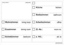 Faxland 20x Umzugsetiketten Nr.2, 148x105 - A6, Beschriftung mit Etiketten vom Umzugskarton für den Umzug, Umzugetiketten Eti-Umzug2-A6-weiss