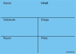 Faxland 20x Umzugetiketten Nr.3, 105x148 - A6, Beschriftung mit Etiketten vom Umzugskarton für den Umzug, Umzugsetiketten Eti-Umzug3-A6-blau