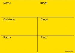 Faxland 20x Umzugetiketten Nr.3, 105x148 - A6, Beschriftung mit Etiketten vom Umzugskarton für den Umzug, Umzugsetiketten Eti-Umzug3-A6-gelb