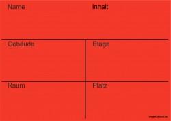 Faxland 20x Umzugetiketten Nr.3, 105x148 - A6, Beschriftung mit Etiketten vom Umzugskarton für den Umzug, Umzugsetiketten Eti-Umzug3-A6-rot