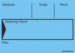Faxland 40x Umzugetiketten Nr.4, 105x74, Beschriftung mit Etiketten vom Umzugskarton für den Umzug, Umzugsetiketten Eti-Umzug4-A7-blau