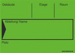 Faxland 40x Umzugetiketten Nr.4, 105x74, Beschriftung mit Etiketten vom Umzugskarton für den Umzug, Umzugsetiketten Eti-Umzug4-A7-gruen