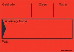 Faxland 40x Umzugetiketten Nr.4, 105x74, Beschriftung mit Etiketten vom Umzugskarton für den Umzug, Umzugsetiketten Eti-Umzug4-A7-rot