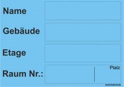 Faxland 40x Umzugetiketten Nr.5, 105x74, Beschriftung mit Etiketten vom Umzugskarton für den Umzug, Umzugsetiketten Eti-Umzug5-A7-blau