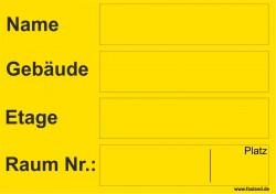 Faxland 40x Umzugetiketten Nr.5, 105x74, Beschriftung mit Etiketten vom Umzugskarton für den Umzug, Umzugsetiketten Eti-Umzug5-A7-gelb