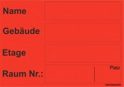 Faxland 40x Umzugetiketten Nr.5, 105x74, Beschriftung mit Etiketten vom Umzugskarton für den Umzug, Umzugsetiketten Eti-Umzug5-A7-rot