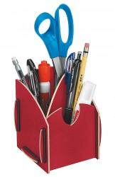 Stifteköcher, Stiftbox Rot, Schreibtischzubehör, Earth Serie , Stiftehalter,Stiftablage Fellowes, 80125 Fel_STEart10_8012501