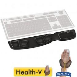 Tastatur Handgelenkauflage, Handauflage Tastaturauflage Karpaltunnel, Schwarz , Health-V Crystals Fellowes 9183201 Fel_HGT1_9183201