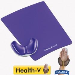 Handballenauflage, Violett Lila, Maus Hilfe bei Karpaltunnel-Syndrom, Handgelenkauflage Health-V Crystals, Fellowes 9183401 Fel_HG1-4_9183401