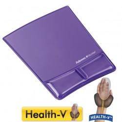 Mauspad - Handgelenkauflage, Maus Hilfe bei Karpaltunnel-Syndrom, Violett Handgelenkauflage, Health-V Crystals, Fellowes 9183501 Fel_HG4_9183501
