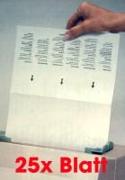 Faxland 25x Reinigungsblatt für Laserdrucker, Drucker zub_blatt_laser
