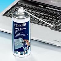 RONOL Druckluft Spray Dose, 400ml, Spray Duster, Druckgas mit Sprühröhrchen, Druckgasspray, Druckluftspray Ron17_4010054100171