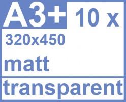 Faxland De Klebefolie 10 X Din A3 450x320 Transparent Matt