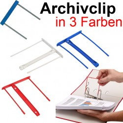 archivclip in wei rot oder blau archiv abheftb gel 2 teilig entnahmeb gel. Black Bedroom Furniture Sets. Home Design Ideas