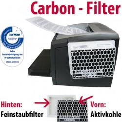 Faxland Carbon Feinstaubfilter für Drucker, Laserdrucker, Fax und Kopierer, Druckerfilter, Filtert auch Ozon Filter3_4050385245714