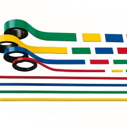 Faxland 2x Magnetstreifen, Rot 5mm x 1 meter, Magnetstreifen, Magnetband, magnethaftendes Band, Magnetbandstreifen magnetband5rot