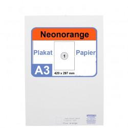 Faxland Neonpapier 100x DIN A3 Kopierpapier Neonorange - in Neon Farbe Fluo Orange