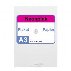 Faxland Neonpapier 100x DIN A3 Kopierpapier Neonpink - in Neon Farbe Fluo Pink