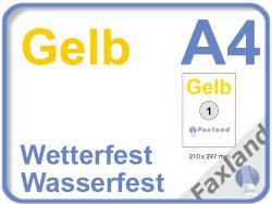 Faxland Gelbe Etiketten, wetterfest, wasserfest 20x A4 zw-gelb_504